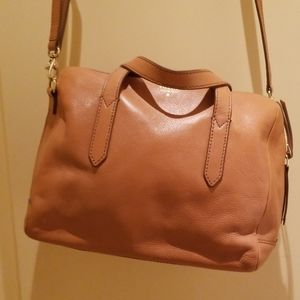 Fossil Leather Satchel camel color